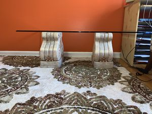 Italian glass coffee table only !! for Sale in Freehold, NJ