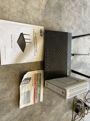 Asus motorola wireless router and modem for Sale in Santa Clarita, CA