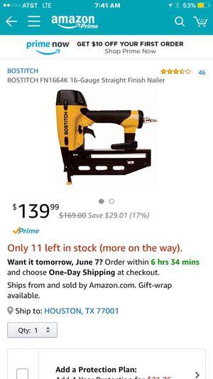 Bostitch 16 gauge nail gun brand new for Sale in Austin, TX