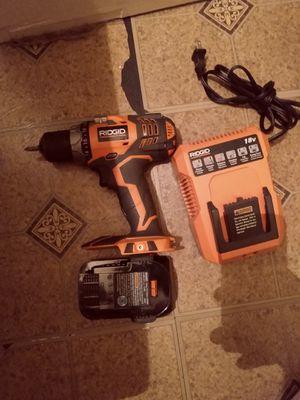 Ridgid 18v drill for Sale in Bridgeport, CT