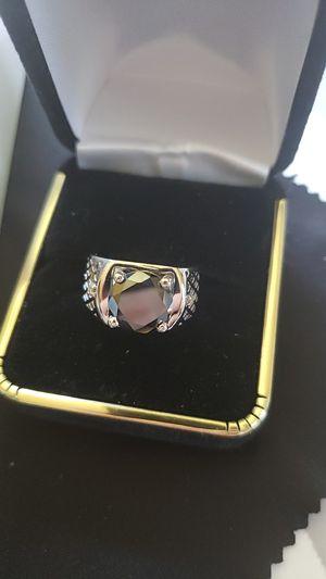 Sz 7.5 2.45ct 100 real black diamond mossianite for Sale in Meriden, CT
