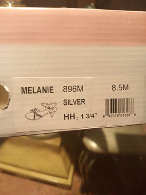Women's silver shoe size 8 1/2 M for Sale in Melbourne Village, FL