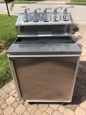 Sliver king refrigerator ice cream prep fountainette w/ syrup pumps for Sale in Fort Myers, FL