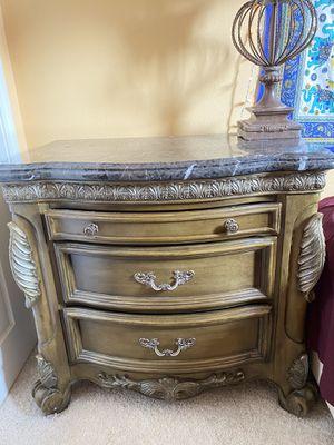Antique dresser with granite top for Sale in Clovis, CA