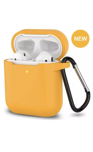 AirPods Silicone Case + Keychain Protective Cover Skin For New AirPod Case 2 & 1 - YOLK for Sale in Saint Johns, FL