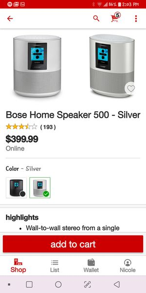 Bose home speaker. Brand new. Asking 270$ for Sale in Riverside, CA