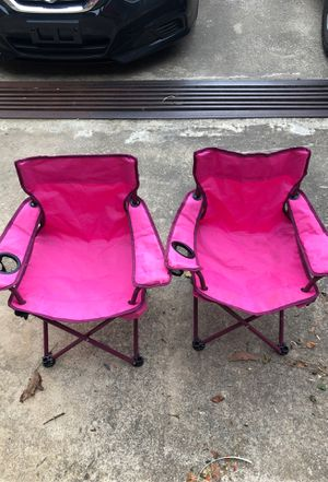 2 Cute pink kids outdoor camping chairs for Sale in Norcross, GA