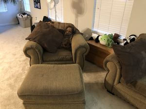 Couch, chair, and ottoman for Sale in Sudley Springs, VA
