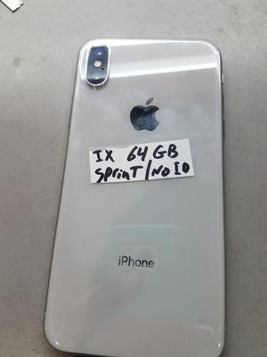 IPhone X 64gb sprint, no face ID for Sale in Glendora, CA