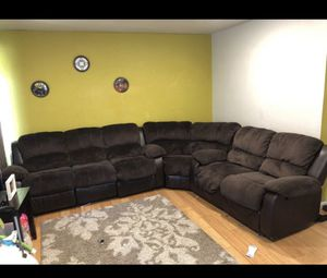 Microfiber sectional couch for Sale in Pleasanton, CA