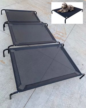 New in box M Medium raised dog pet cot bed 42x25x6 inches tall for pets up to 70 lbs capacity elevated cuna de perro for Sale in West Covina, CA