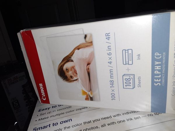 Canon SELPHY CP800 Compact Photo Printer with Ink and Paper Set KP-1081IN