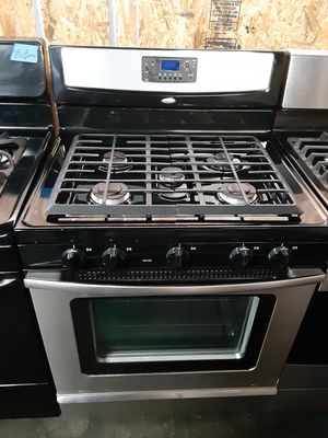 $450 whirlpool side burner gas range includes delivery in the San Fernando Valley a warranty and installation for Sale in Los Angeles, CA