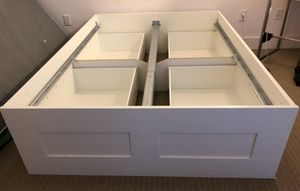 Ikea White Full Size Bed Frame with Storage *MUST GO* for Sale in Washington, DC