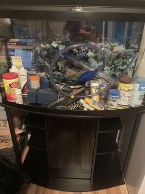 2 complete aquariums with everything for Sale in Worcester, MA