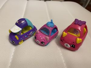 2 diecast and 1 plastic car Shopkins Cutie Cars 3 Packs from Moose Toys for Sale in Kenmore, WA