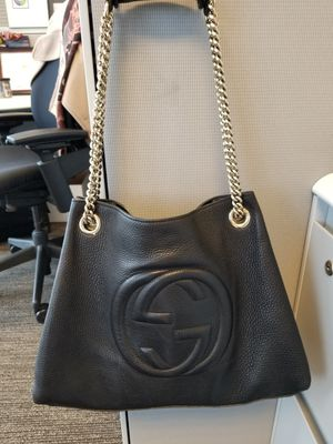 Gucci Soho Black Leather Double Chain Tote for Sale in Nashville, TN