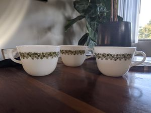 Crazy Daisy Pyrex Corning Tea Cups for Sale in Los Angeles, CA