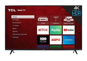 TCL 55S425 55 inch 4K Smart LED Roku TV (2019) for Sale in Dallas, TX