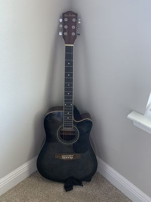 Glen Burton Acoustic Guitar and Case for Sale in Panama City, FL