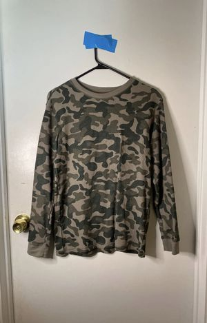 Camo Long Sleeve T-Shirt Size Large Boys for Sale in Crestwood, IL