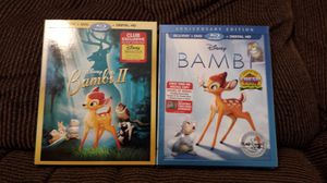 Disney Bambi & Bambi ll (Blu-ray/DVD/Digital HD, 2017) w Slipcover New - Sealed for Sale in Cedar Rapids, IA