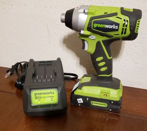 Greenworks 24V 2-Speed Cordless Compact Drill (Includes battery and charger)... $90 for Sale in Nashville, TN