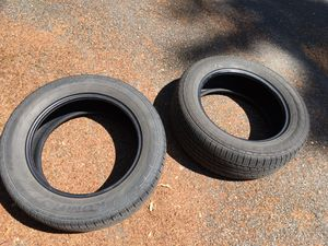 2 KUMHO tires pair 5/8 tread left no patches or damage 225/60/17 Jeep Compass SOLUS SUV wheels for Sale in Seattle, WA