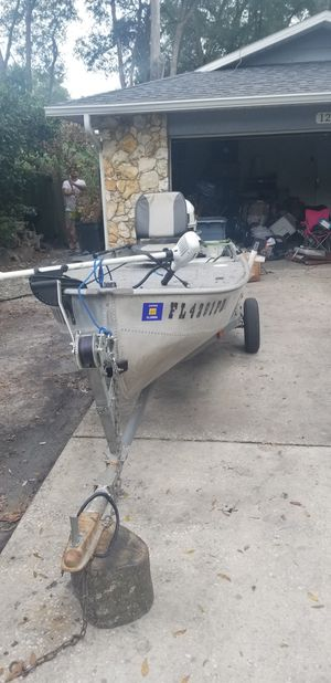 1963 Sears 14' aluminum V-haul Boat with 1994 25hp Johnson for Sale in Longwood, FL