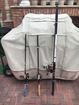 3 fishing rods used one time $325 for Sale in Brooklyn, NY
