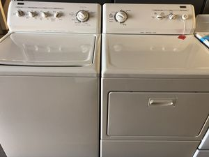 Used kenmore Elite heavy duty washer and dryer set. 1 year warranty for Sale in Pinellas Park, FL