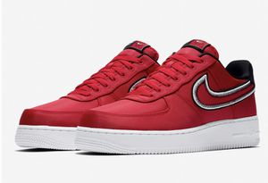 Nike Air Force 1 07 One Low LV8 Reverse Stitch Hoops Red Black White CD0886 600 New with box for Sale in French Creek, WV