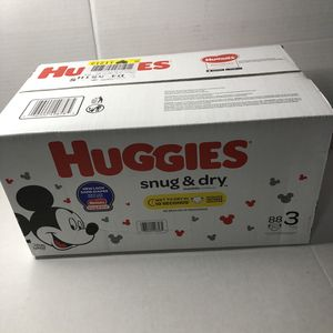 Disney Huggies Size 3 88 Diapers for Sale in Los Angeles, CA