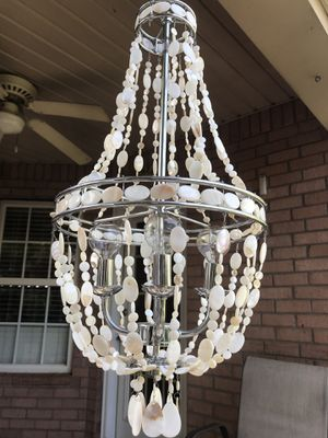 Sea Shell Chandelier- like new. 4 - 40watt bulbs- great for hanging over table. for Sale in Murfreesboro, TN