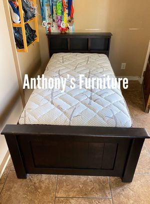 Twin bed & bamboo mattress for Sale in South Gate, CA