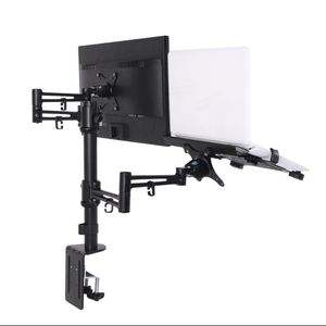 Loctek D2DL 2 in 1 Dual Monitor Arm Desk Mount Stand for 10-27″ & 11-15.6″ LCD for Sale in Miami, FL