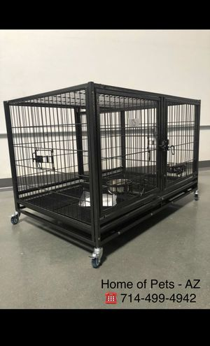"""New 43"""" Heavy duty Kennel with removable divider and feeding Bowls for Sale in Mesa, AZ"""