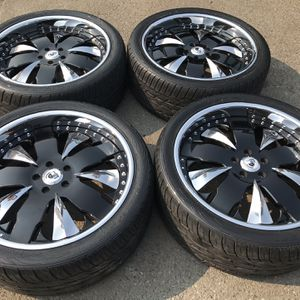 22 INCH ASANTI FORGED WHEELS AND TIRES 5 lug for Sale in Federal Way, WA