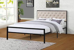 Full Metal Bed Frame, Beige for Sale in Pico Rivera, CA