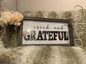 $10 For All!! Shabby chic blessed and grateful set for Sale in Denton, TX