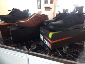 3 pairs of dress shoes size 10.5 mint for Sale in Trenton, NJ