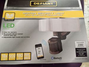 Defiant 270 Degree White LED Bluetooth Motion Outdoor Security Light for Sale in Payson, AZ