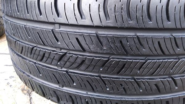 Two bright new continental tires for sale 235/40/18