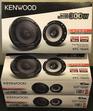 """New Kenwood 6.5"""" inch 300 Watts Car Audio Speakers (pair) 🔥🔊 for Sale in Hemet, CA"""