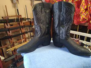 MEN'S (BLACK) COWBOY BOOTS for Sale in Atlanta, GA