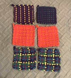 6 brand new hot pads/pot holders! for Sale in Los Angeles, CA