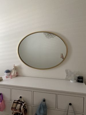 West Elm Oval Brass Mirror for Sale in Chino, CA