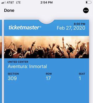 Aventura: Inmortal 2-tickets for Sale in Chicago, IL
