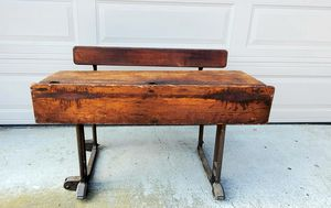 Antique School desk, County Borough of Ruby Education Committee for Sale in Lakeside, CA