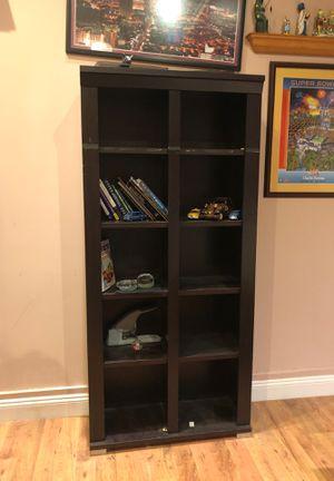 Dark brown wooden book shelf for Sale in Miramar, FL